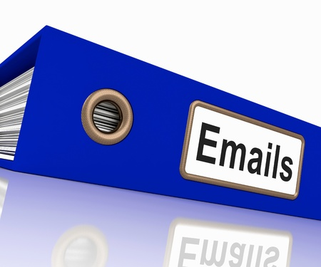 Emails File Shows Contacts and Correspondence photo