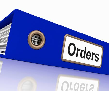 Orders File Containing Sales Reports And Documents Stock Photo - 15084993