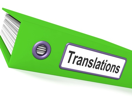 Translations File Shows Copy Of Translated Documents Stock Photo - 15084918