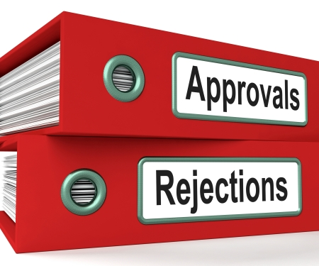 rejections: Approvals Rejections Files Shows Accept Or Decline Reports Stock Photo