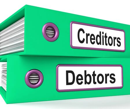 borrowing: Creditors Debtors Files Showing Lending And Borrowing