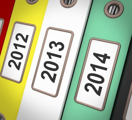 organizing: Date Files Showing New Year And Organizing Business Stock Photo