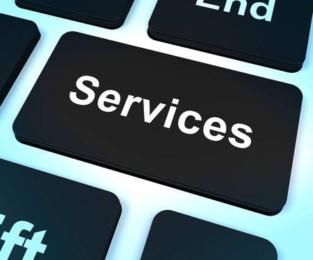 ヘルプとサポートを示すサービス コンピューター キー