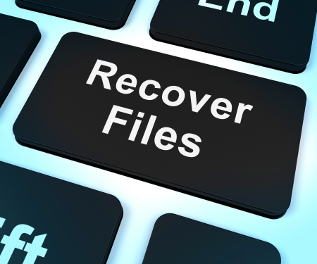 backups: Recover Files Key Showing Restoring From Backup