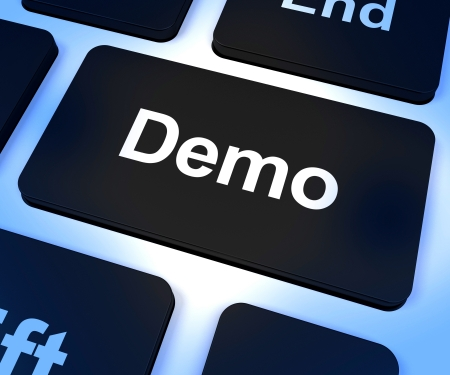 Clé d'ordinateur de démonstration Pour télécharger une version d'essai du logiciel