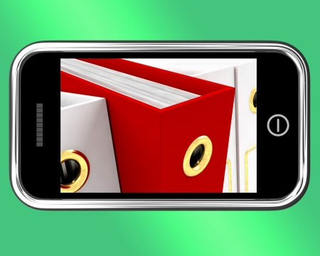 Smartphone With A Red File To Show Organizing Data Stock Photo - 15085042
