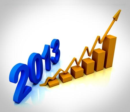 2013 Gold Bar Chart Showing Budget Versus Actual Stock Photo - 16517768