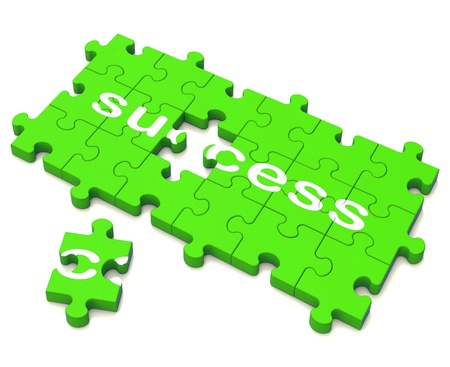 attainment: Success Puzzle Showing Attainment Of Wealth