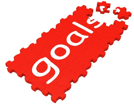 Goals Puzzle Shows Aspirations, Objectives And Ambitions Stock Photo - 16517679