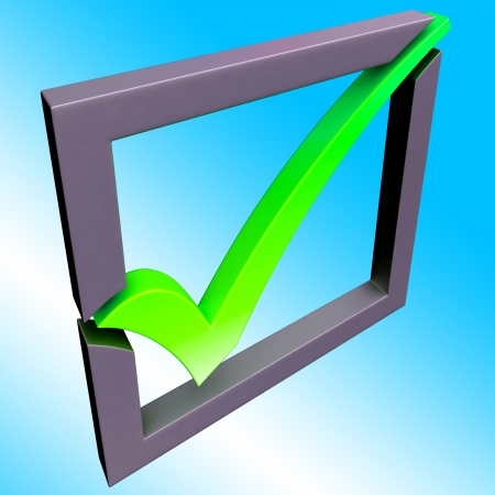 Green Tick Showing Endorsed, Checked and Success Stock Photo - 16517627