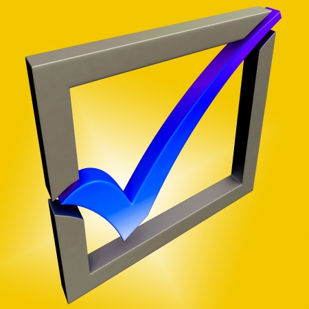 Blue Tick Showing Endorsed, Checked and Success Stock Photo - 16517660