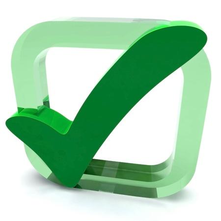 control de calidad: Green Tick Mostrando Excelencia de Calidad Aprobado Aprobado Satisfecho