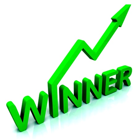 successes: Winner Word Showing Successes And Victory Stock Photo