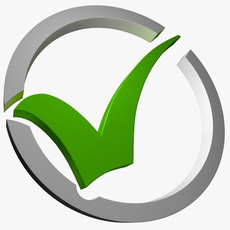 control de calidad: Green Tick Circled Mostrando Excelencia Chequeado Verificado Garantizado