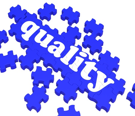 superiority: Quality Puzzle Showing Excellence And Premium Products Or Services