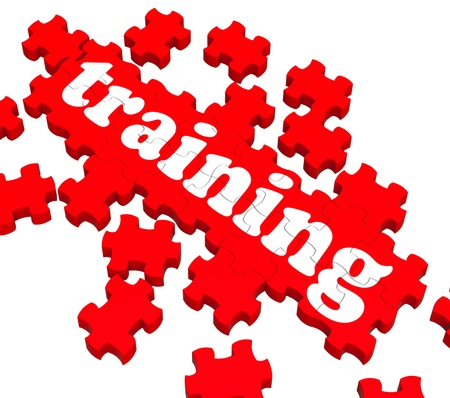 instructing: Training Puzzle Showing Business Coaching And Instructing