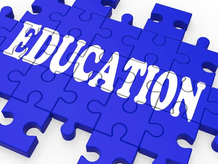 Education Puzzle Showing University Studies And Teaching Stock Photo - 16517616