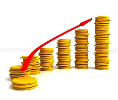Coin Stacks Showing Increasing Profit Growth Success Stock Photo - 16517748