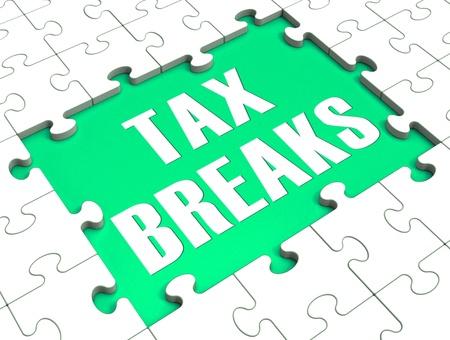 break free: Jigsaw Puzzle Showing Tax Breaks, tax Free, Loophole