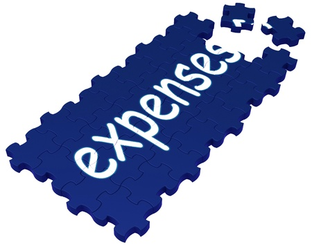 Expenses Puzzle Showing Invoices, Bills And Payment Stock Photo - 16517659