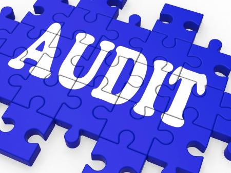 Audit Puzzle Showing Auditor Inspections And Auditing Stock Photo - 16517609