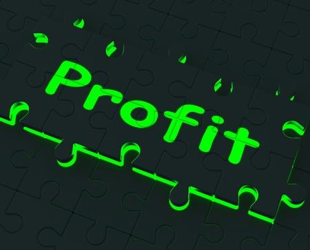 rentable: Muestra las ganancias que brillan intensamente ganancias, la inversi�n y rentables Foto de archivo