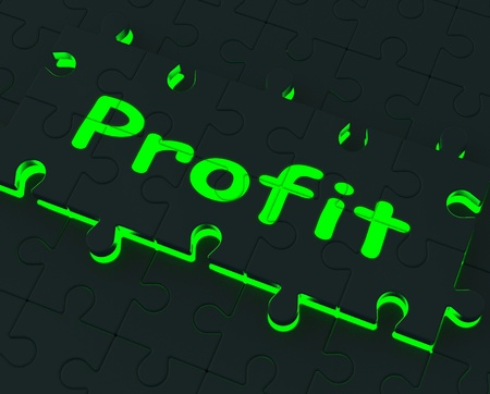 profitable: Profit Glowing Shows Earnings, Investment And Profitable Stock Photo
