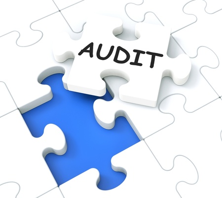 auditing: Audit Shows Auditing, Reports And Reviews Stock Photo