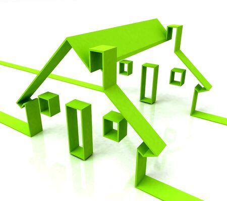 rentals: House Symbol Showing Real Estate Or Rentals