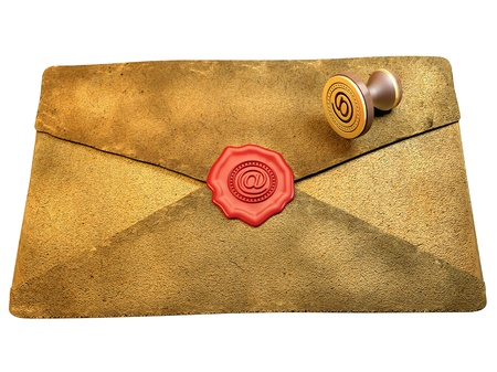 communicated: Sealed Envelope Showing Private Message Communicated Stock Photo