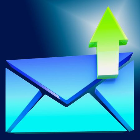 contacting: Envelope Symbol Shows Emailing Contacting Send