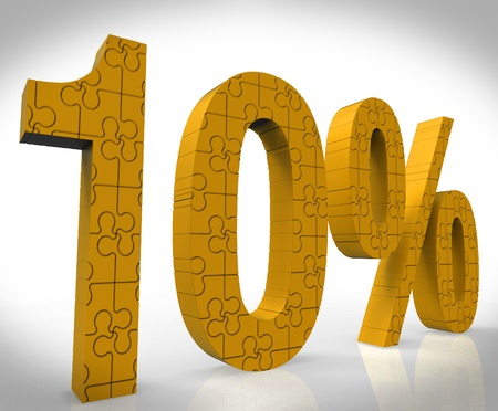 10% Puzzle Shows Special Price And Promotion photo