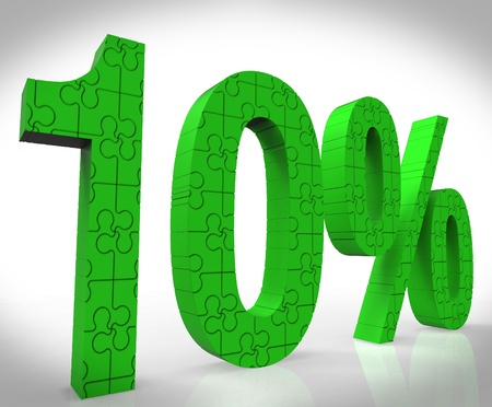 10% Sign Shows Price Cut Promo And Bonus Sale Stock Photo - 16517637