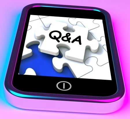 inquiries: Q&A On Smartphone Showing Asking Inquiries And Answers