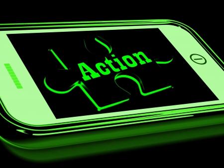 activism: Action On Smartphone Showing Urgent Activism And Motivation