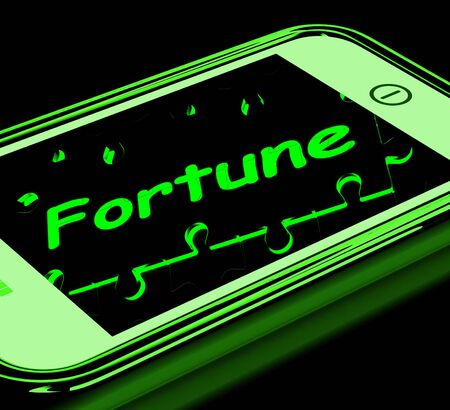 Fortune On Smartphone Shows Mobile Fortune Teller And Prophecies Stock Photo - 16936634