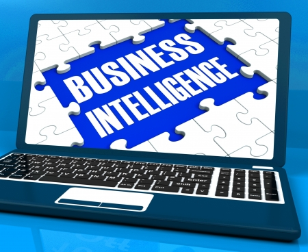 obtaining: Business Intelligence On Laptop Showing Collecting Client Information Or Obtaining Opportunities