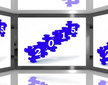 festividades: 2015 en la pantalla con futuras celebraciones y festividades Foto de archivo