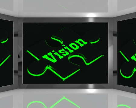 predictions: Vision On Screen Showing Predictions And Forecast