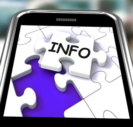 advisory: Info On Smartphone Showing Advisory And Orientation Stock Photo