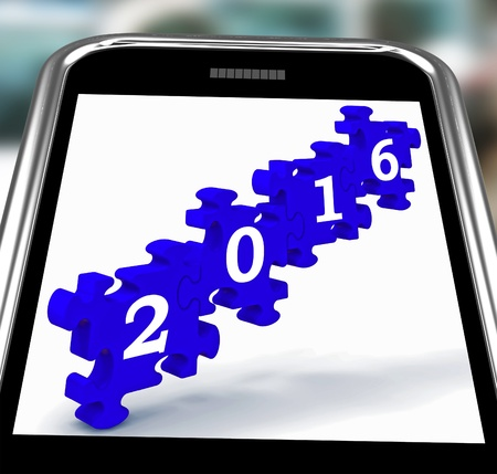 2016 On Smartphone Shows Future Technology And Mobile Applications photo