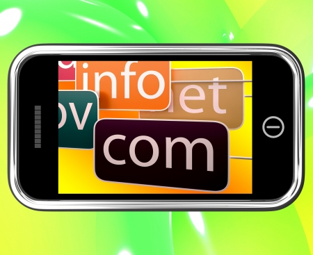 domains: Domains On Smartphone Shows Government And Educational Sites