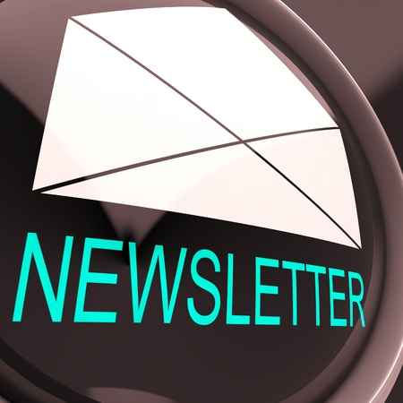 mailed: E-mail Newsletter Showing Letter Mailed Electronically Worldwide Stock Photo
