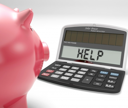 budgeting: Help Calculator Showing Borrow Savings And Budgeting
