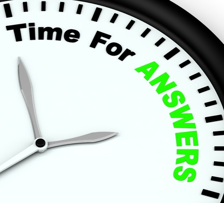 wiki: Answers Word On Clock Showing Solution Knowledge And Wiki Stock Photo
