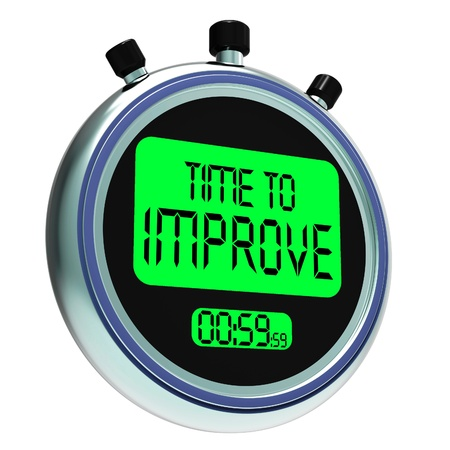Time To Improve Message Means Progress And Improvement photo