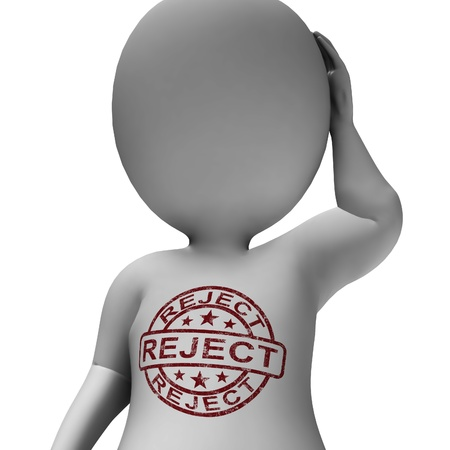Reject Stamp On Man Showing Rejection Or Failed Stock Photo - 18039442