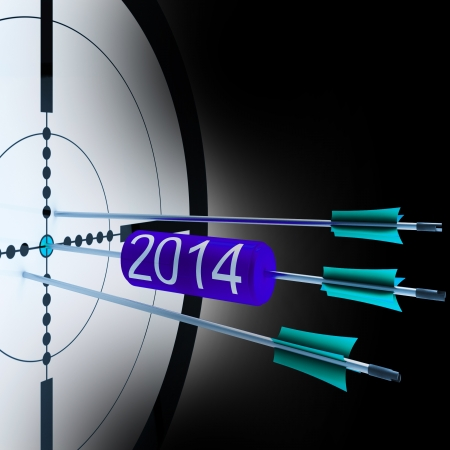the future growth: 2014 Target Showing Successful Future Growth And Goals