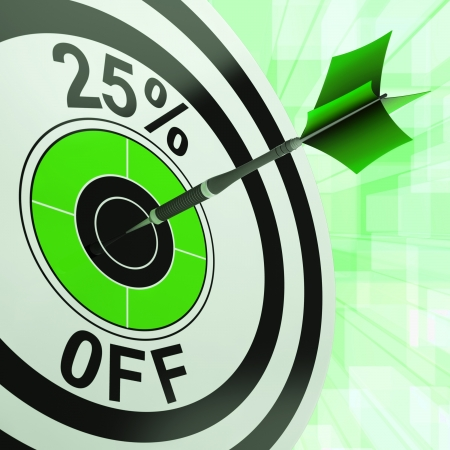 25 Percent Off Showing Percentage Reduction Special Offer Stock Photo - 18039739