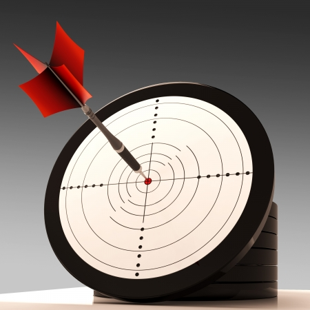 best result: Target Aim Showing Excellence Achievement, Best Result Stock Photo